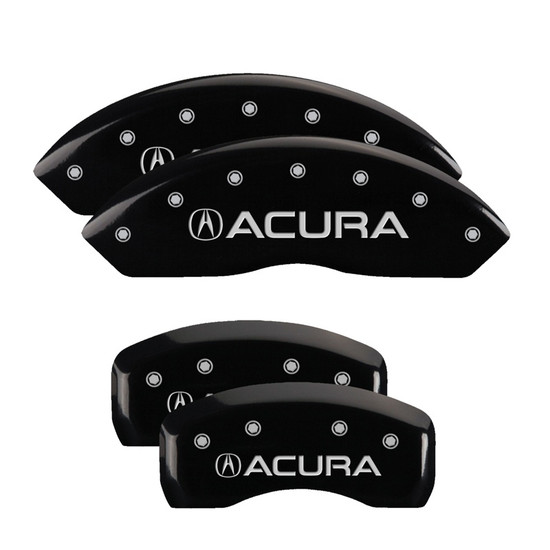 MGP Caliper Covers 39001SACUBK Set of 4 caliper covers, Engraved Front and Rear: Acura, Black powder coat finish, silver characters.