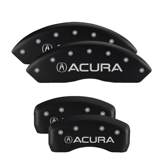 MGP Caliper Covers 39001SACUMB Set of 4 caliper covers, Engraved Front and Rear: Acura, Matte Black powder coat finish, silver characters.