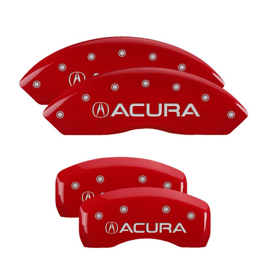 MGP Caliper Covers 39001SACURD Set of 4 caliper covers, Engraved Front and Rear: Acura, Red powder coat finish, silver characters.