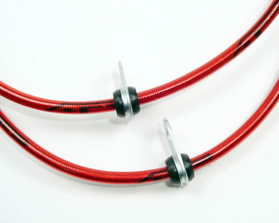 AP-SCTC-405-HBFV Front Steel Braided Brake Lines 05-10 Scion TC Agency Power