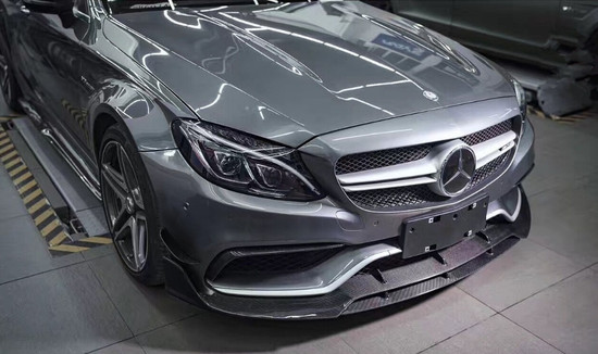AP-W205-C63-605-HBFV Agency Power Carbon Fiber Bumper Canards Mercedes C63 W205