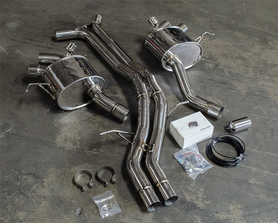 AP-95BT-170-HBFV Valve Controled 2.75 Inch Catback Exhaust Porsche Macan Turbo 3.6L V6 Agency Power