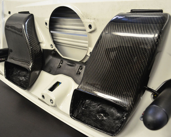 AP-997TT-630-HBFV Carbon Fiber Decklid Intake Scoops 07-13 Porsche 997 Turbo Agency Power