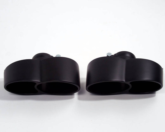 AP-997S-171B-HBFV Matte Black Exhaust Tips Porsche 997 Carrera S Agency Power