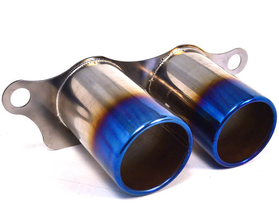 AP-997GT3-171TIC-HBFV Titanium Exhaust Burnt Tips 07-11 Porsche 997 GT3 GT3RS Agency Power