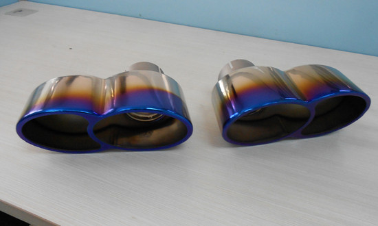 AP-997TT-171TIC-HBFV Quad Oval Exhaust Tips Burnt Titanium 07-09 Porsche 997 Turbo Agency Power
