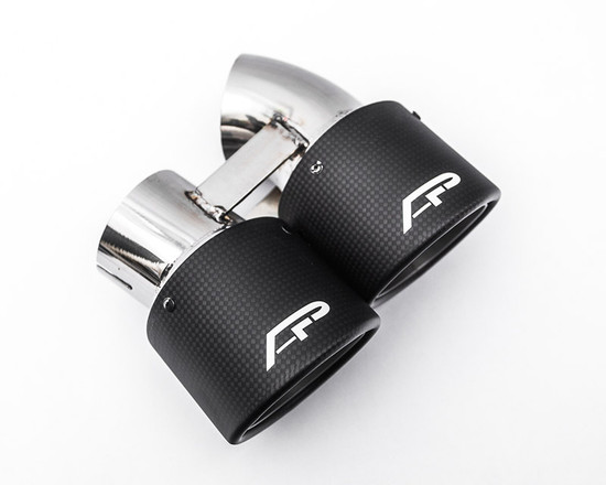 AP-991TT-171C-HBFV Carbon Fiber Quad GT2 Angle Style Exhaust Tips Porsche 991 Turbo Agency Power