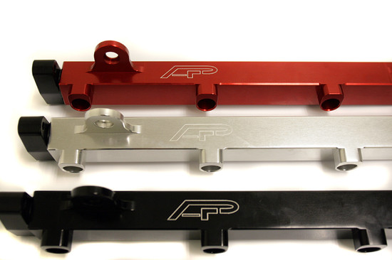 AP-CZ4A-124R-HBFV High Flow Fuel Rail Red 08-15 Mitsubishi EVO X Agency Power