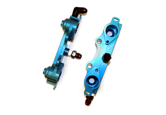 AP-GDBC-120-1B-HBFV Flow Fuel Rail Blue 04-06 Subaru STI Agency Power