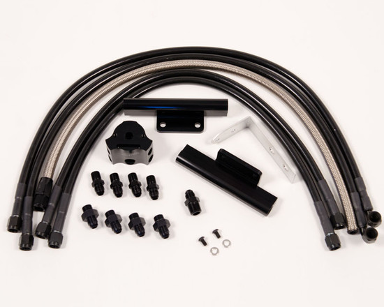 AP-GDA-120-1BK-HBFV Fuel Rail Kit Black Subaru WRX 02-11 | STI 02-07 Agency Power