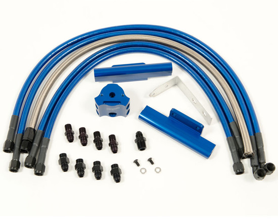 AP-GDA-120-1BL-HBFV Fuel Rail Kit Blue Subaru WRX 02-11 | STI 02-07 Agency Power