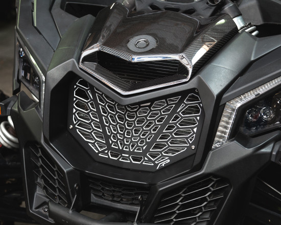 AP-BRP-X3-635-BY-HBFV Premium Grill Black Yellow Can-Am Maverick X3 Agency Power