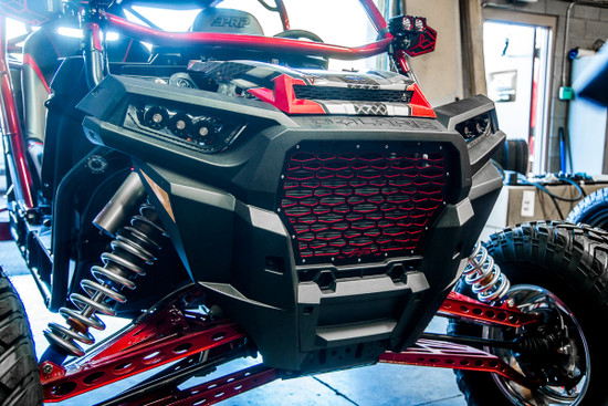 AP-RZR-640R-HBFV Premium Grill Red Polaris RZR XP Turbo 2017-2018 Agency Power