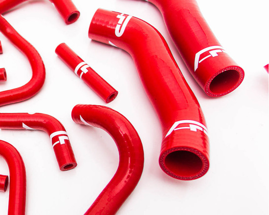 AP-GTR-151R-HBFV 14pc Red Silicone Radiator Hose Kit Nissan GT-R R35 Agency Power