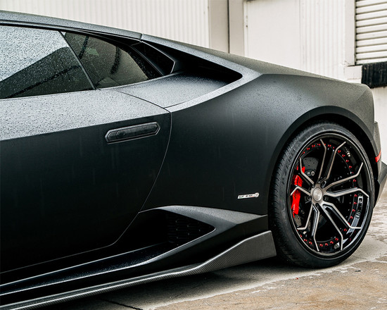 AP-LP610-620-HBFV Aeroform Carbon Fiber Side Skirt Extensions Lamborghini Huracan LP-610 15-17 Agency Power