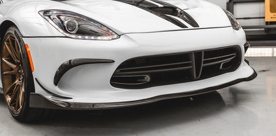 AP-VIPG5-604-HBFV Carbon Fiber Front Lip Spoiler 13-17 SRT Viper Agency Power
