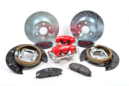 Baer Brake Systems 4302081 Disc Brake Caliper / Rotor / Pad Kit Rear 2005-2010 GM Truck C/K 1500 Base