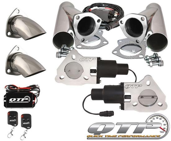 "QTP QTEC50CPSK2 Quick Time Performance 2.5"" Electric Exhaust Cutouts Wireless"