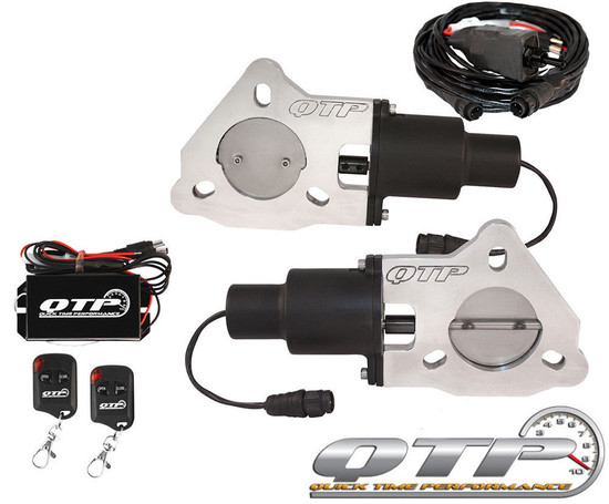 "QTP QTEC50K Quick Time Performance 2.5"" Dual Electric Exhaust Cutouts Wireless"