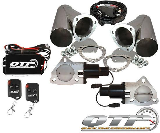 "QTP QTEC60CPS-K Quick Time Performance 4"" Dual Electric Exhaust Cutouts Wireless"