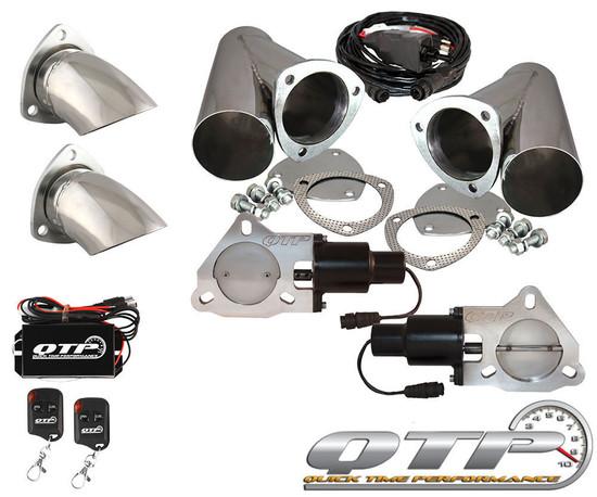 "QTP QTEC60CPS-K2 Quick Time Performance Dual 3"" Electric Exhaust Cutout Wireless"