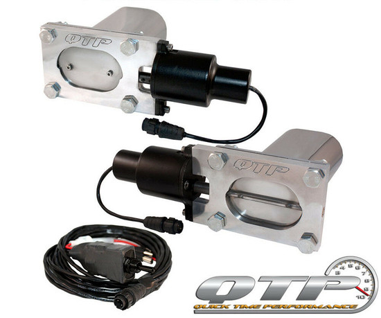 QTP QTEC66 Quick Time Performance Low Profile Electric Exhaust Cutouts Wireless
