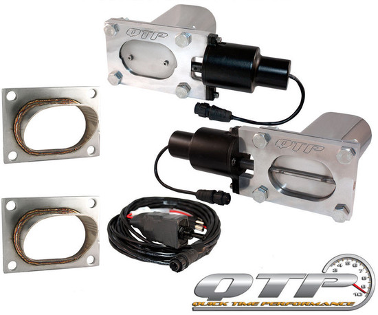 QTP QTEC66-K1 Quick Time Performance Low Profile Electric Exhaust Cutouts Remote