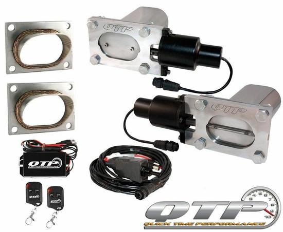 QTP QTEC66-K2 Quick Time Performance Low Profile Electric Exhaust Cutouts Remote