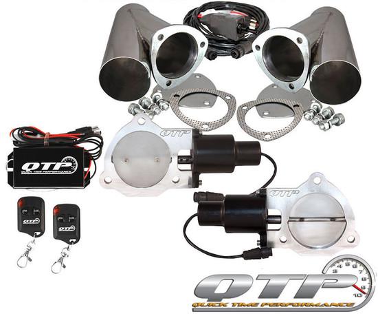 "QTP QTEC70CPSK Quick Time Performance 3.5"" Dual Electric Exhaust Cutout Wireless"