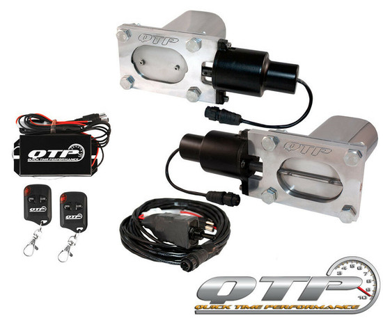 QTP QTEC66-K Quick Time Performance Low Profile Electric Exhaust Cutouts with Remotes