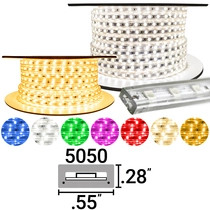 Custom Cut 120 Volt SMD-3528 LED Strip Lights
