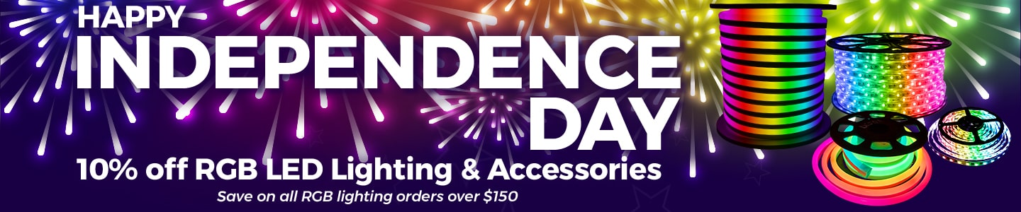 Independence Day Sale - 10% Off RGB LED Lighting & Accessories!
