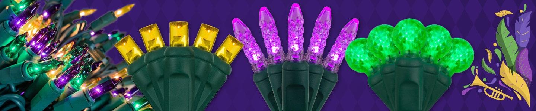 Mardi Gras LED String Lights