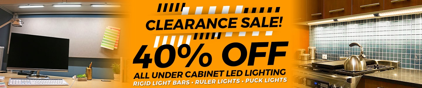 Under Cabinet Lighting Clearance Sale - Save 40%!