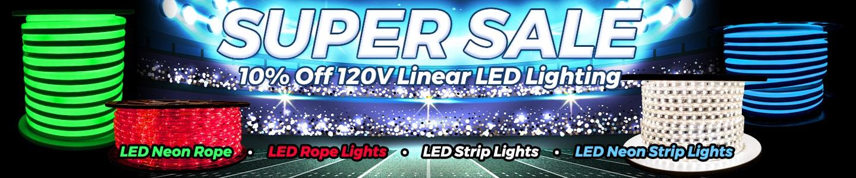 Super Sale - 10% off 120V Linear Lighting!
