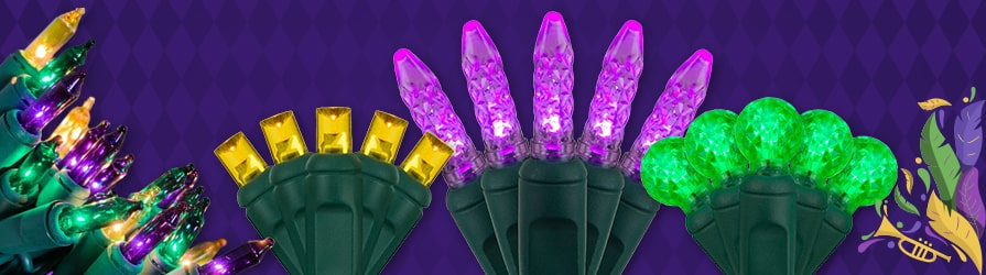 Mardi Gras LED String Lights