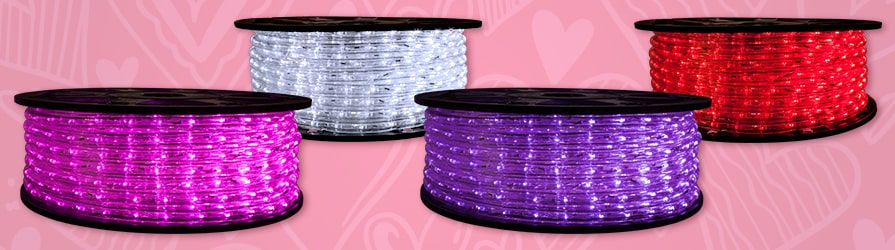 Valentines Day LED Rope Lights