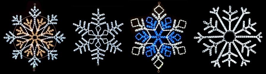 Snowflake Rope Light Motifs