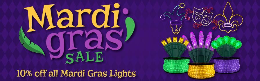Mardi Gras LED Rope Lights