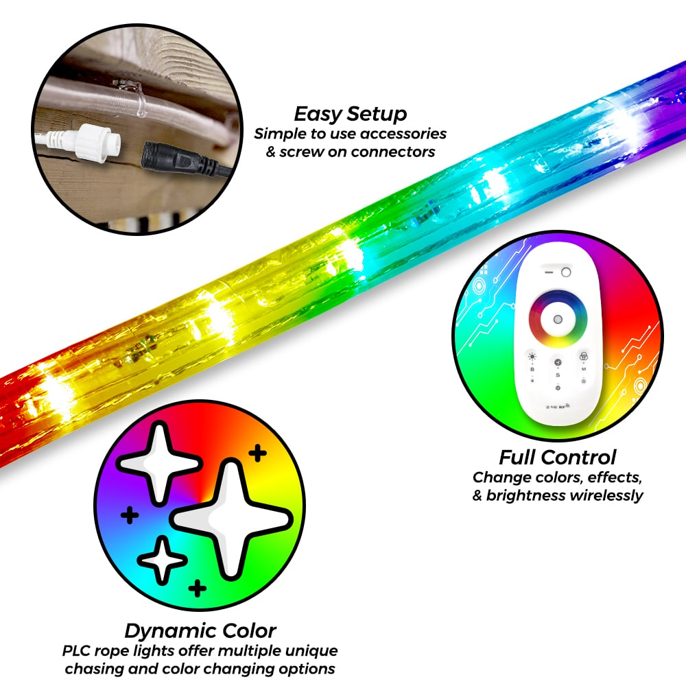 Benefits of PLC LED RGB Color Changing Chasing Rope Lights