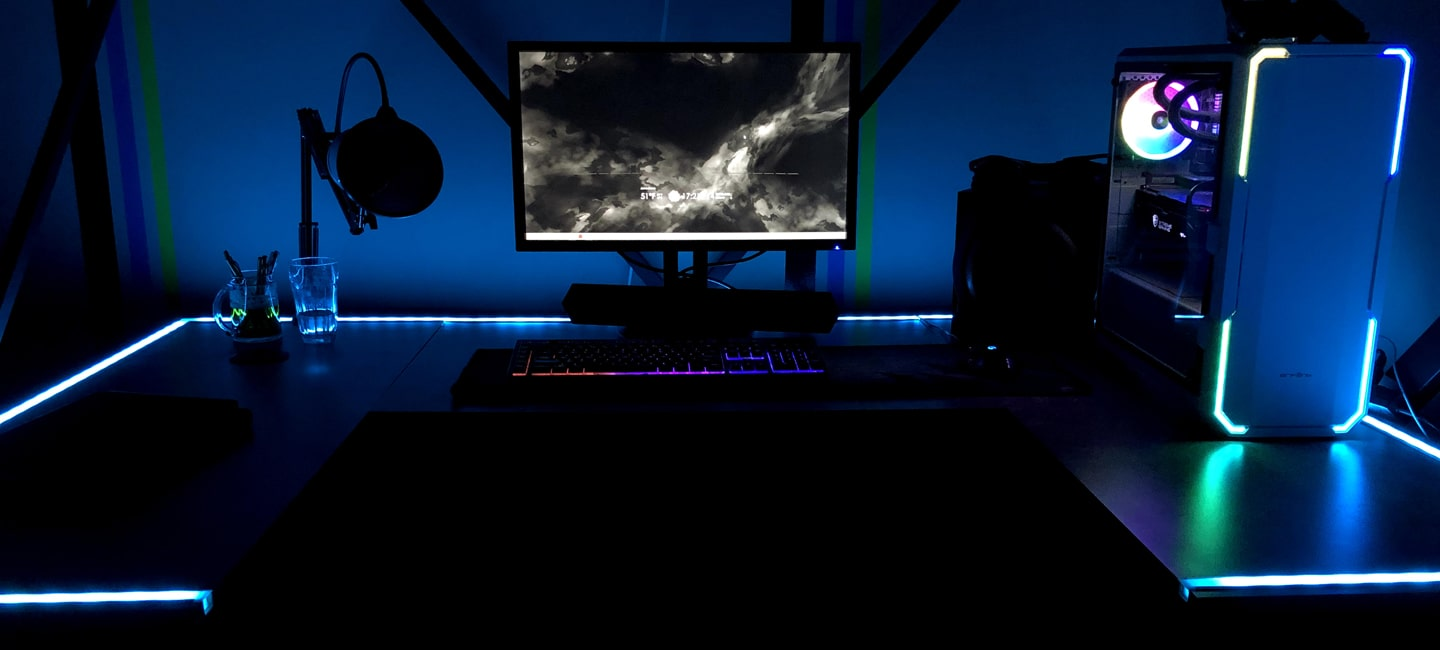 LED RGB Gaming Station