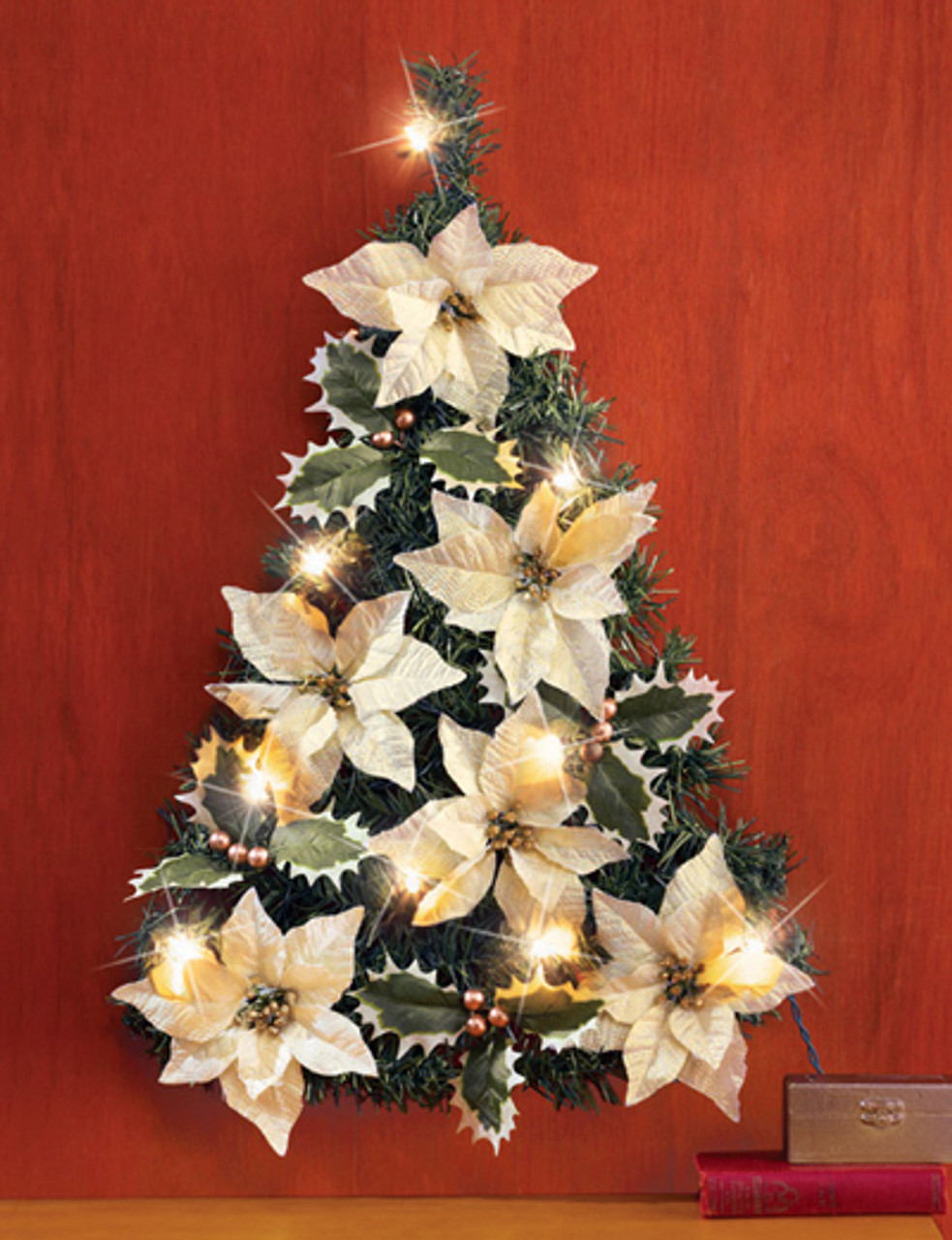 Poinsettia Christmas Tree Wall Decoration Birddog Lighting