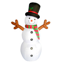 6 foot snowman with stick arms led christmas inflatable