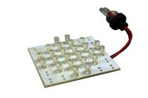 24 led 12 volt cool white wedge bulb - 120deg