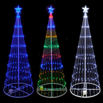 9 foot led showmotion 3d christmas trees