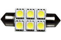 6 LED 12 Volt 37mm Festoon Bulb (120deg)