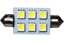 6 LED 12 Volt 42mm Festoon Bulb (120deg)