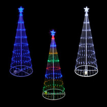 6 foot led showmotion 3d christmas trees