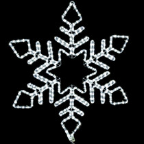 32 inch cool white and blue led rope light snowflake motif v1