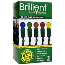 Brilliant 70 G12 LED Raspberry String Lights - 4 Inch Spacing